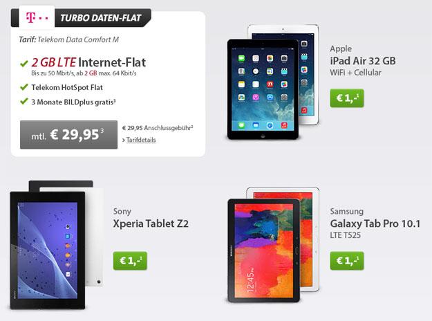 Telekom Data Comfort M mit Tablets