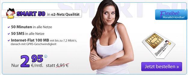DeutschlandSIM Smart 50 für 2,95 € mtl.