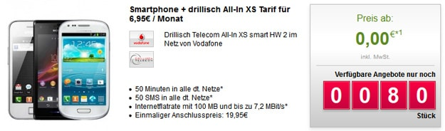 Drillisch Telekom All-in XS mit u.a. Samsung Galaxy S3 Mini