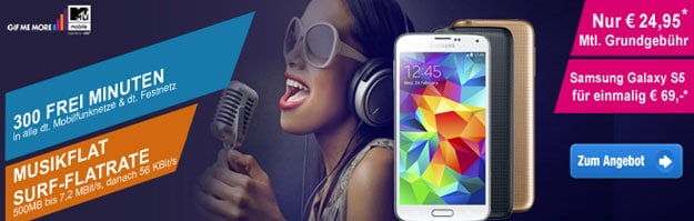 E-Plus MTV Mobile mit Samsung Galaxy S5