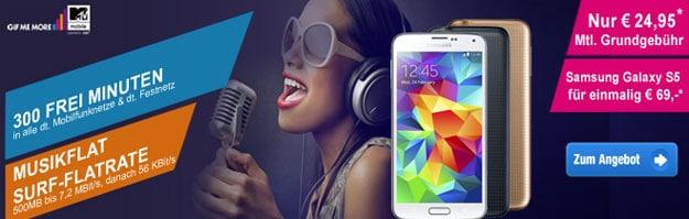 E-Plus MTV Mobile mit Samsung Galaxy S5