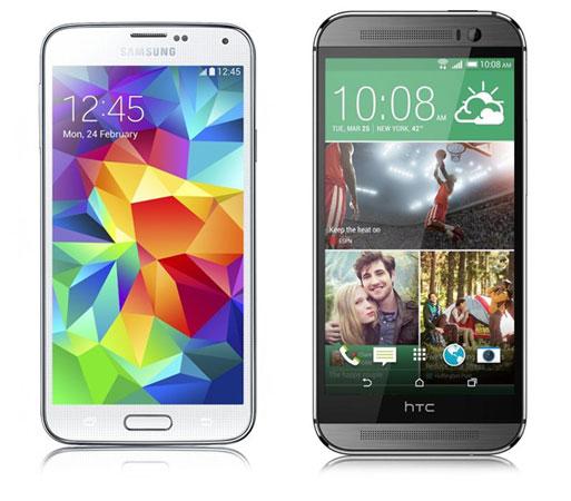 Samsung Galaxy S5 und HTC One (M8)