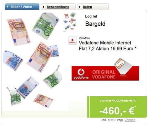 Vodafone Datentarif mit 460 € Auszahlung