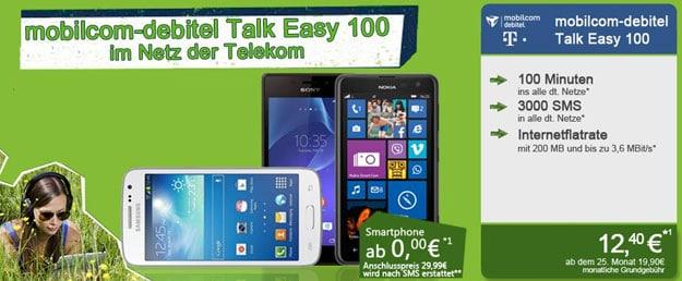 mobilcom-debitel Talk Easy im Telekom Netz mit Handy