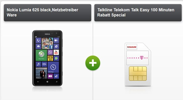 Nokia Lumia 625 mit Telekom Talk Easy 100 mobilcom-debitel