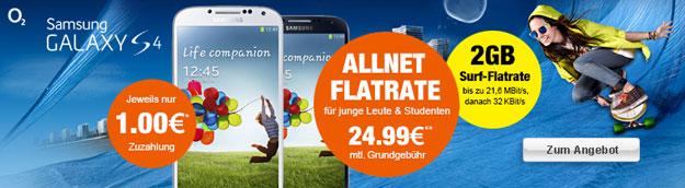 o2 Blue All-in M Junge Leute mit Samsung Galaxy S4