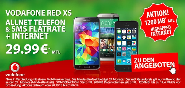Vodafone Red XS