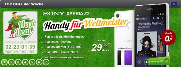 Sony Xperia Z2 o2 Blue All-in M
