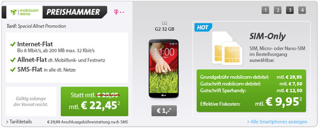 Telekom Special Allnet mit Top-Smartphones oder 300 € Auszahlung