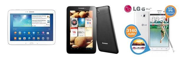 Tagesangebote mit Tablets und Smartphones