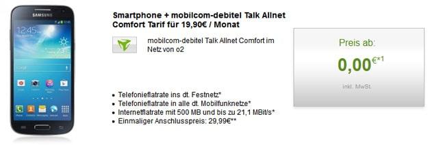 Talk Allnet Comfort mit Samsung Galaxy S4 Mini