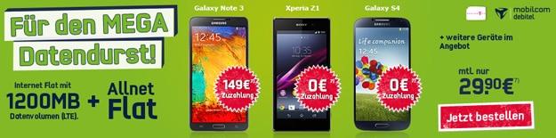 Telekom Special Allnet (md) mit Samsung Galaxy S4, Sony Xperia Z1 etc.