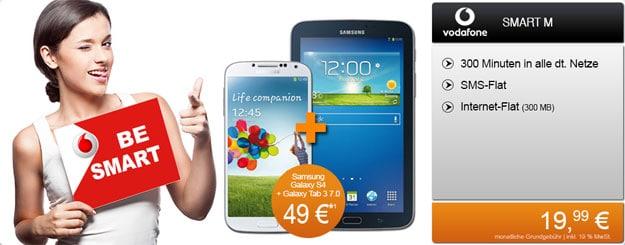 Vodafone Smart M z.B. mit Samsung Galaxy S4 + Tab 3 (7.0) Lite