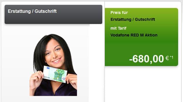 Vodafone-Tarife mit bis zu 680 € Auszahlung
