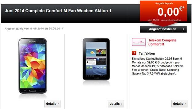 Telekom Complete Comfort M mit WM-Aktion