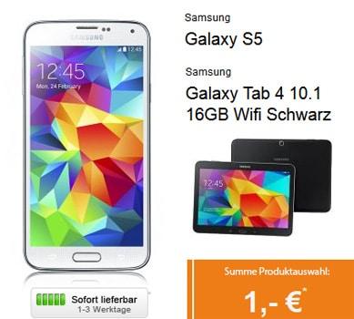 Telekom Comfort S Friends mit Samsung Galaxy S5 + Galaxy Tab 4 (10.1) u.a.