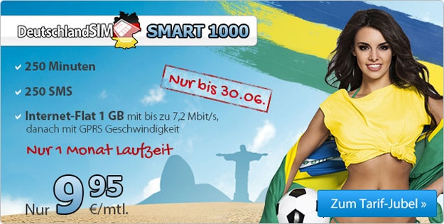 DeutschlandSIM Smart 1000 WM-Aktion