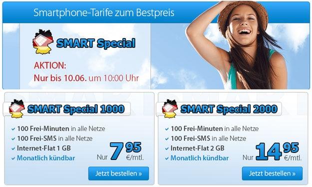 DeutschlandSIM Smart Special ab 7,95 € mtl.