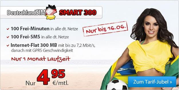 DeutschlandSIM Smart 300 WM-Aktion