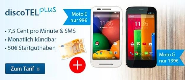discoTel Plus mit Motorola Moto E und G