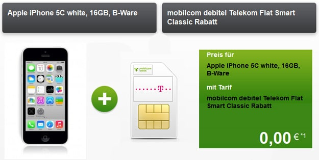 Telekom Flat Smart mit iPhone 5c