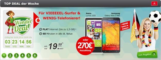 Vodafone MobileInternet Flat Light mit 60 Freiminuten