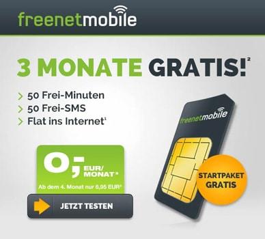 freenet freeSmart im o2 Netz drei Monate kostenlos