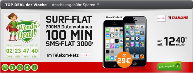 Telekom Talk Easy 100 mit iPhone 5 und 5c