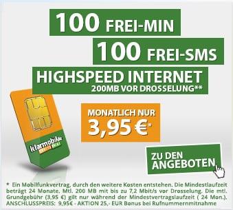Klarmobil Starter für 3,95 € mtl.