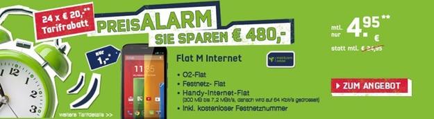 o2 Flat M Internet mit Motorola Moto G