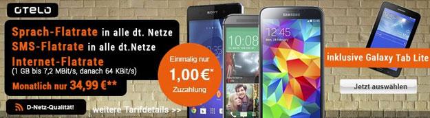 Otelo Allnet-Flat XL mit Handy und Tab 3 (7.0) Lite