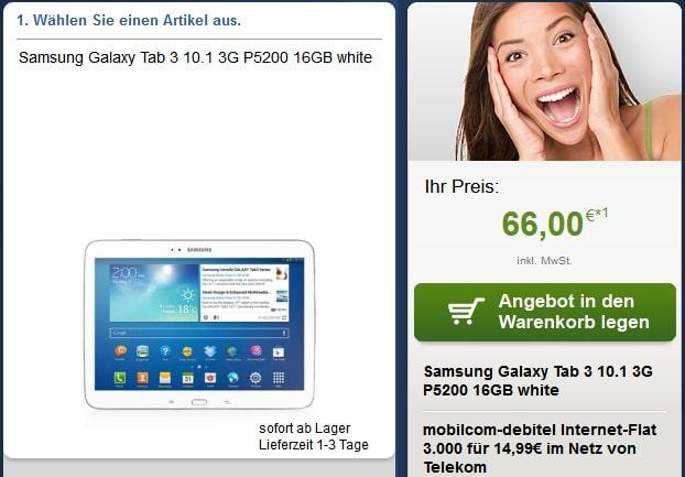 Telekom Datentarif mit Samsung Galaxy Tab 3 (10.1)