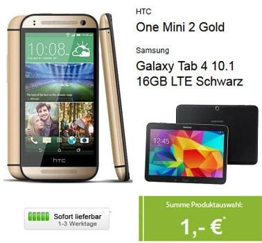 Vodafone Smart M und Datentarif mit HTC One Mini 2 und Samsung Galaxy Tab 4 (10.1) LTE