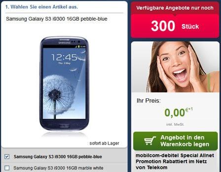 Telekom Special Allnet mit Gewinn + Galaxy S3 u.a.