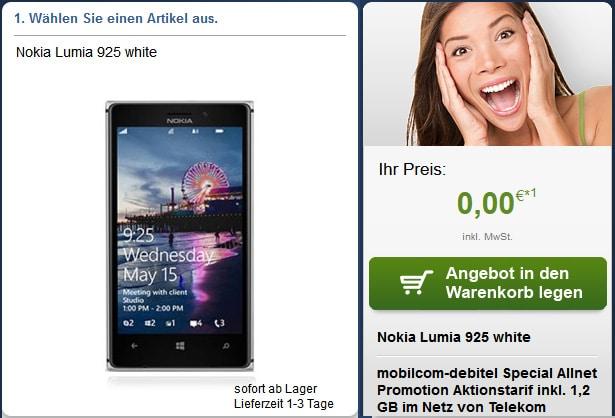 Special Allnet Telekom mit Nokia Lumia 925 u.a.