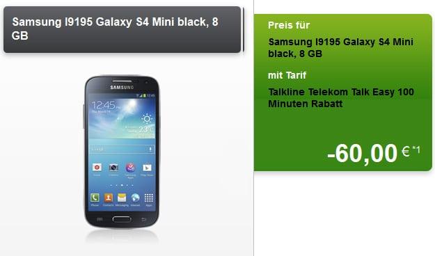 Talk Easy 100 im Telekom-Netz mit Samsung Galaxy S4 Mini