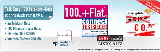 Talk Easy 100 Telekom für 0,99 € mtl.