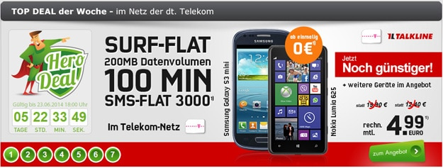 Talk Easy 100 Telekom im Hero-Deal