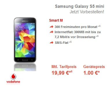 Vodafone Smart M mit Samsung Galaxy S5 Mini