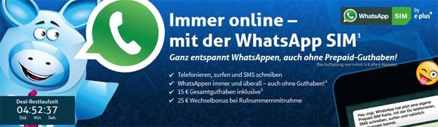 WhatsApp SIM bei Preis24