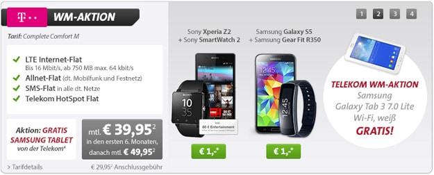WM-Aktion: Comfort M mit Smartphone, Smartwatch und Tablet