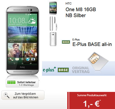 BASE all-in mit HTC One (M8)