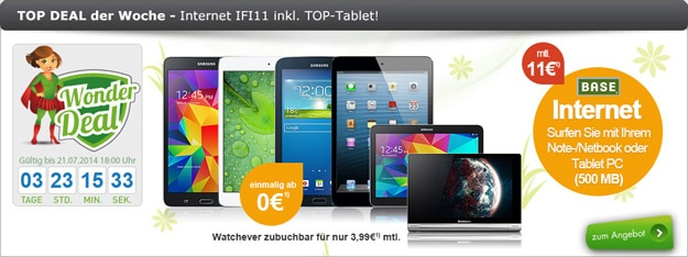 BASE Internet IFI11 mit Tablet