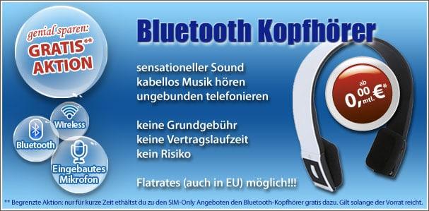 Bluetooth Kopfhörer mit Tarifen ohne Laufzeit