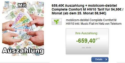 Telekom Complete Comfort M mit Auszahlung