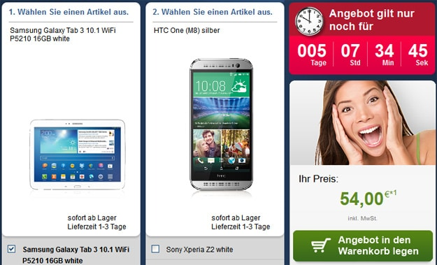 Telekom Complete Comfort S Friends mit Handy und Tablet