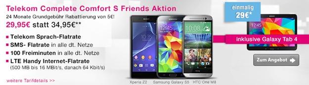 Telekom Complete Comfort S (Friends) mit Ersparnis