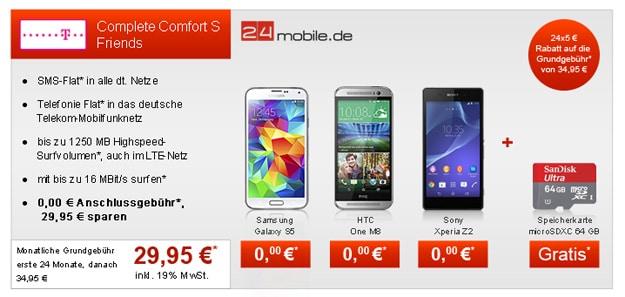 Telekom Complete Comfort S mit Top-Smartphone und microSD-Karte