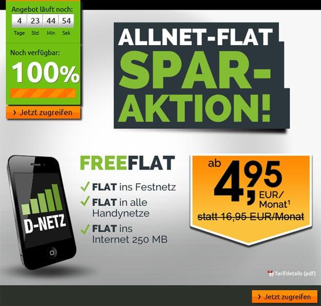 crash-Aktion Allnet-Flat Telekom
