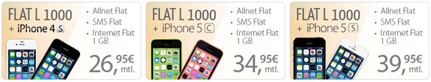PremiumSIM Flat L 1000 mit iPhones